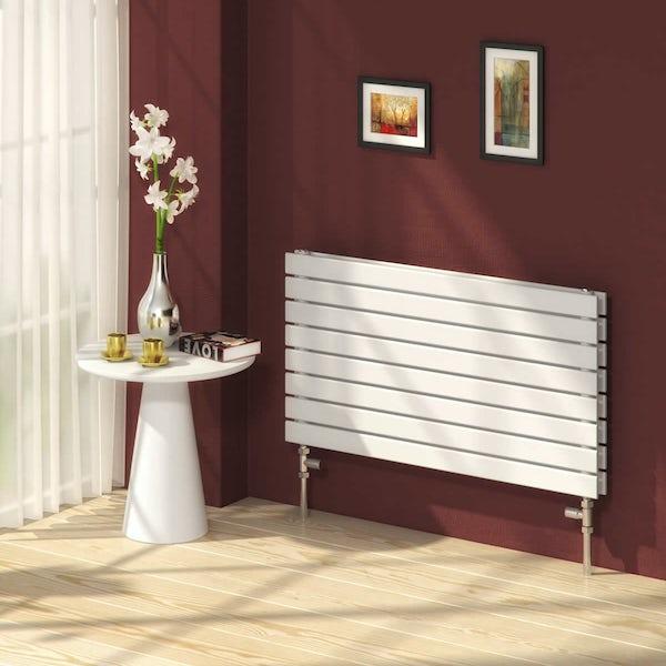 Reina Rione white double steel designer radiator