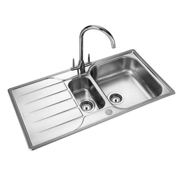Rangemaster Michigan 1.5 bowl reversible kitchen sink