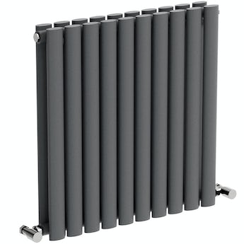 The Heating Co. Salvador anthracite grey double horizontal radiator