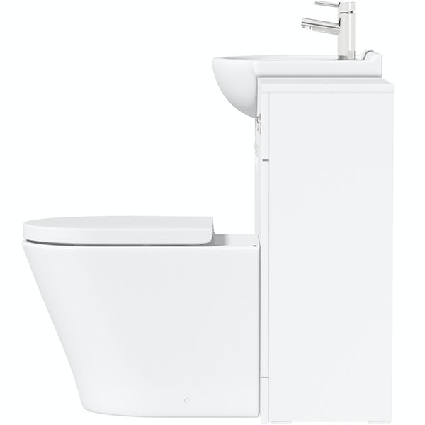 Orchard Elsdon white 1060mm combination with contemporary back to wall toilet and seat