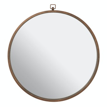 Accents Jacen round wall mirror with bronze frame