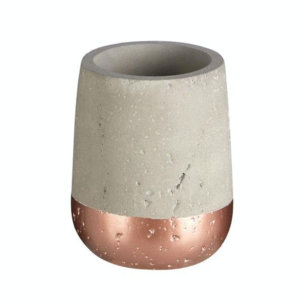 Neptune concrete and copper tumbler