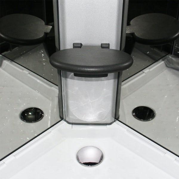 Insignia Premium offset quadrant right handed hydro-massage shower cabin 1100 x 700
