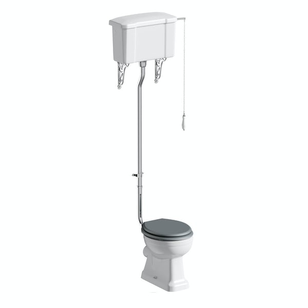 Camberley high level toilet inc grey soft close seat