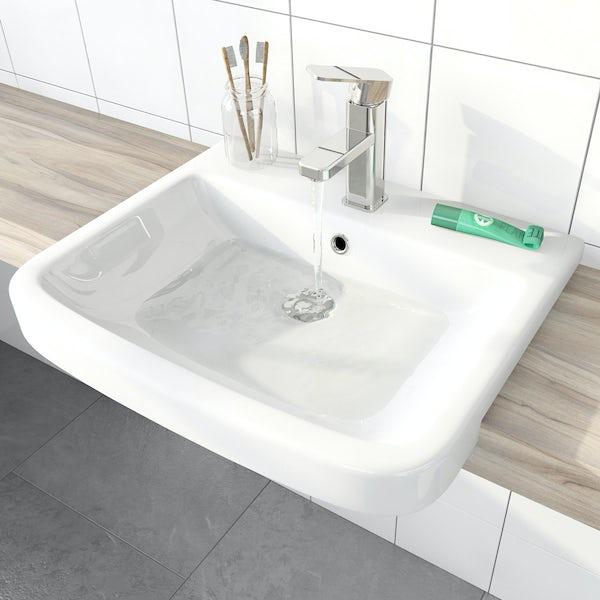 Mode Carter 1 tap hole semi recessed countertop basin 550mm