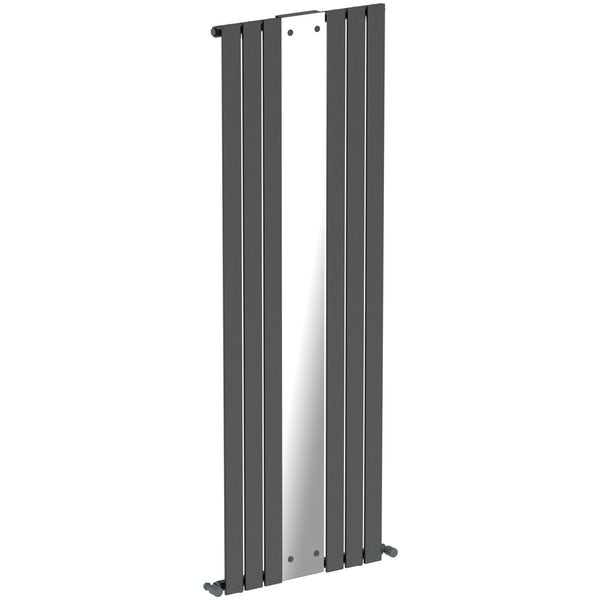 Mode Ellis anthracite grey vertical radiator with mirror 1840 x 620