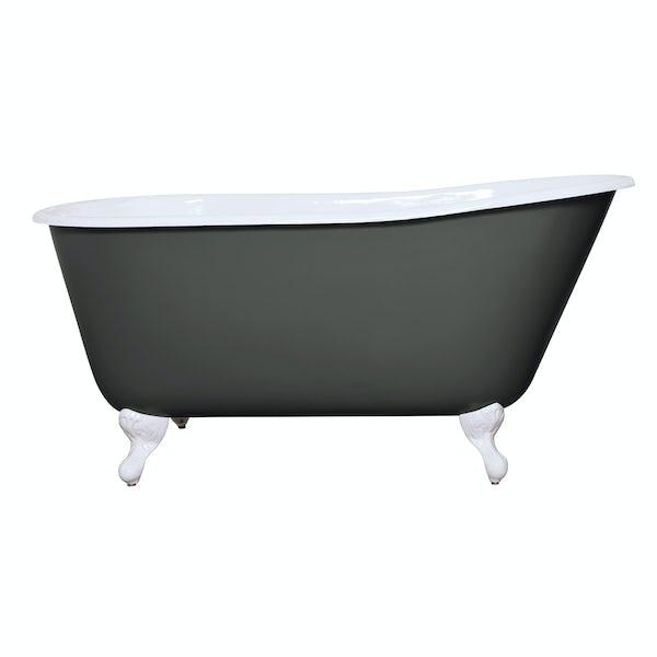 The Bath Co. Warwick smoke grey cast iron bath