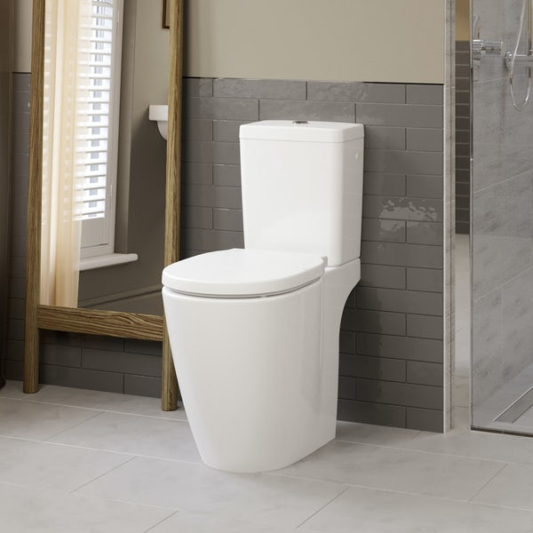 Ideal Standard Concept Freedom comfort height close coupled toilet with soft close seat