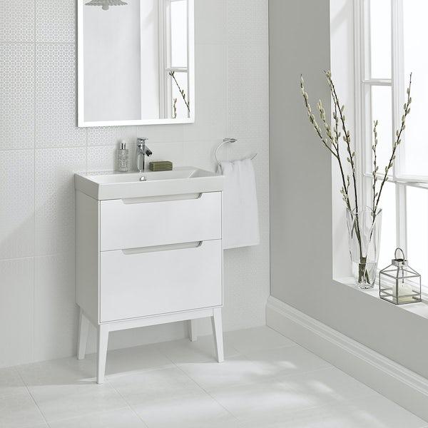 Laura Ashley Floor Tiles >> Laura Ashley white marise satin floor tile 331mm x 331mm