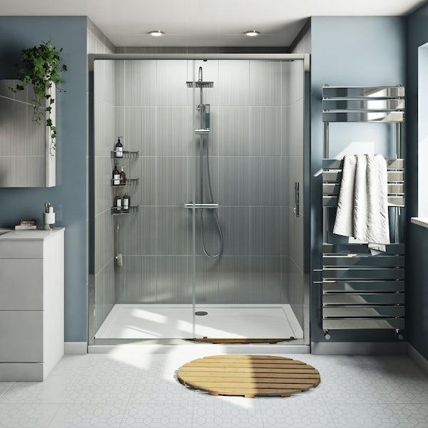 Orchard 6mm framed sliding shower door offer pack