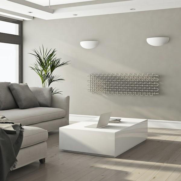 Terma PLC chrome effect horizontal radiator 463 x 1600
