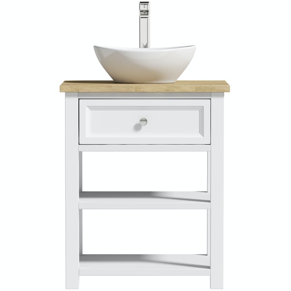 The Bath Co. Marlow 640mm washstand with countertop basin