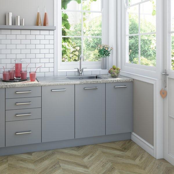 Schön chrome lever handle kitchen tap