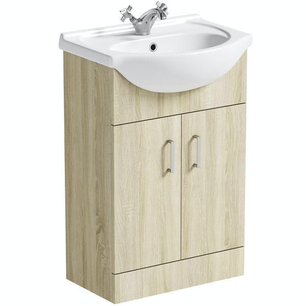 Orchard Eden oak vanity unit and basin 550mm