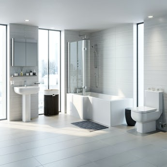 RAK Series 600 and Mode complete left handed shower bath suite
