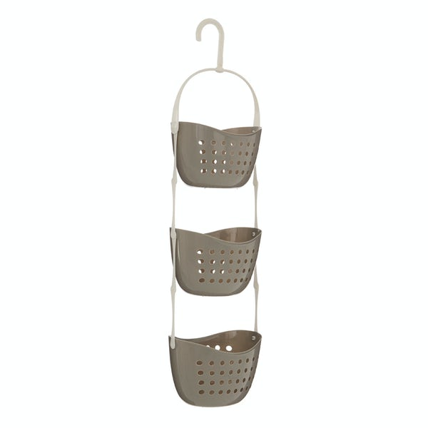 Grey 3 tier hanging shower caddy