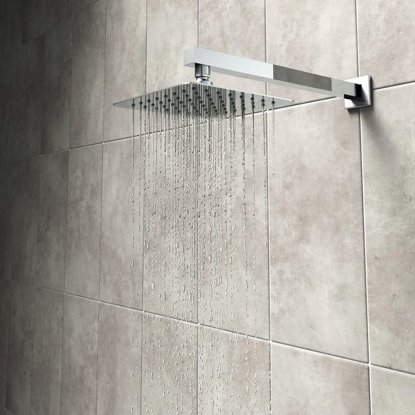 Mode Renzo square slim stainless steel shower head 200mm