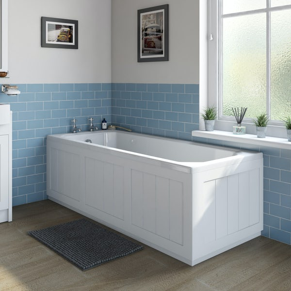 The Bath Co. Dulwich matt white wooden bath panel pack 1700 x 700mm