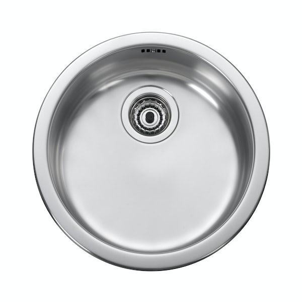 Leisure 1.0 bowl inset round kitchen sink