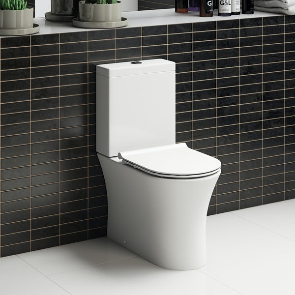 Mode Hardy rimless close coupled toilet inc slimline soft close seat