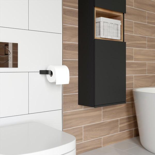 Mode Spencer black toilet roll holder
