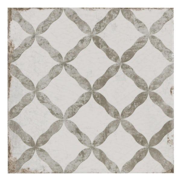 Aragon trellis grey matt wall and floor tile 200mm x 200mm