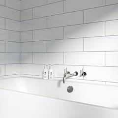 Main image for British Ceramic Tile Maxi Metro Pure white gloss tile 148mm x 498mm