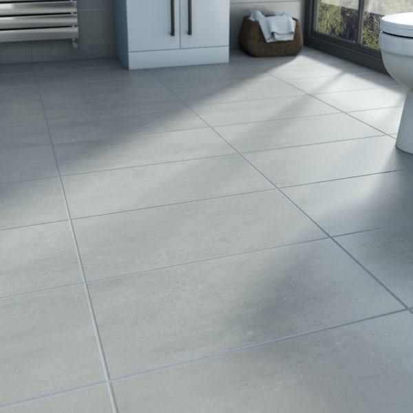 Edmonton light grey matt glazed porcelain wall tiles 300x600mm