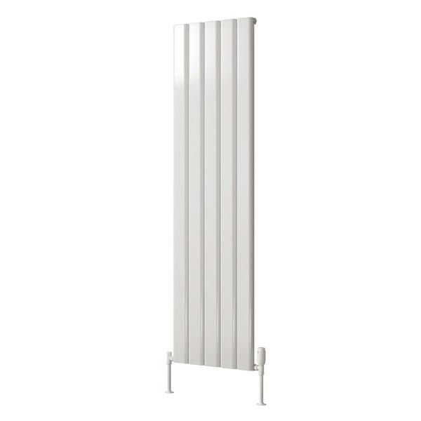 Reina Vicari white single vertical aluminium designer radiator