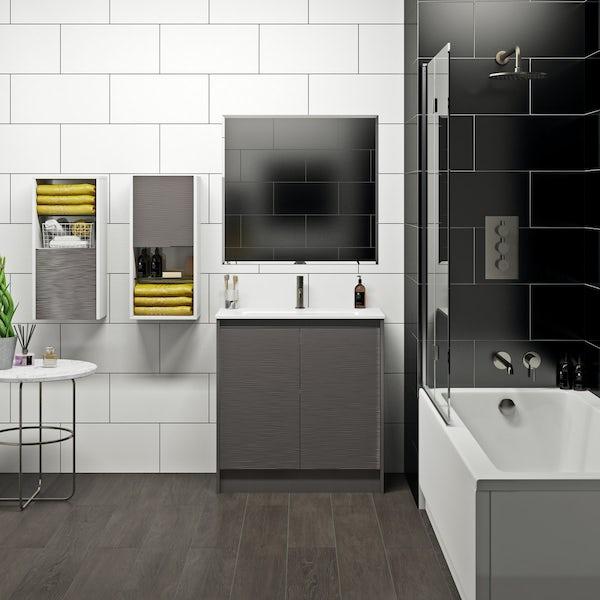 Mode Banks lava stone matt vanity unit 800mm