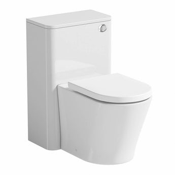 Mode Ellis white back to wall toilet unit and Tate toilet with soft close seat