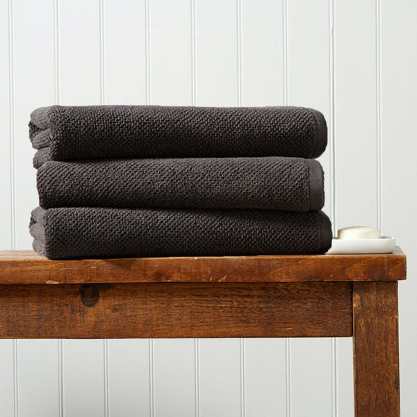 Christy Brixton liquorice bath sheet