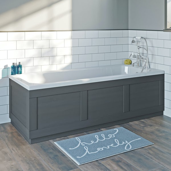 The Bath Co. Newbury dusk grey bath front panel 1700mm