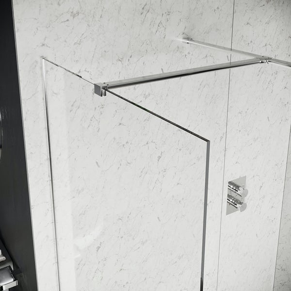 Mode Burton 8mm walk in shower enclosure pack with stone tray