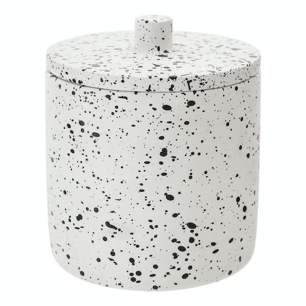 Accents Goza concrete white and black storage jar