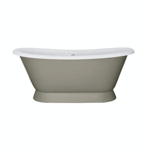 The Bath Co. Stirling misted green cast iron bath