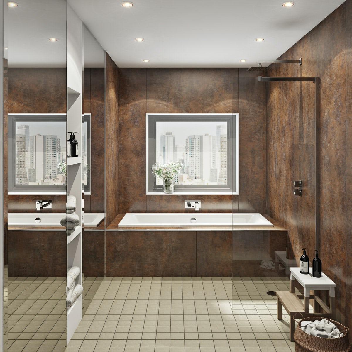Multipanel Linda Barker Corten Elements Hydrolock Shower
