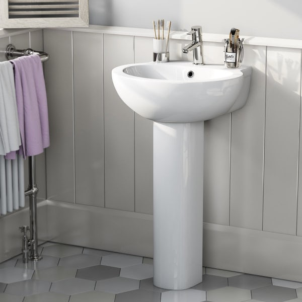 Mode Madison 1 tap hole full pedestal basin 540mm