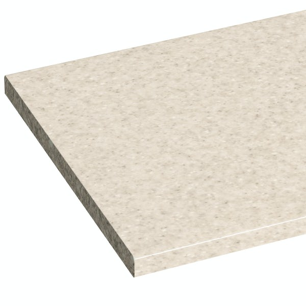 Orchard Wharfe white straight medium storage fitted furniture pack with beige worktop