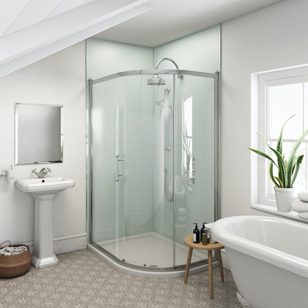 Multipanel Heritage Kew Gloss shower wall panel corner installation pack 1200 x 1200