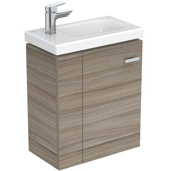Ideal Standard Concept Space elm left handed wall hung vanity unit and basin 450mm