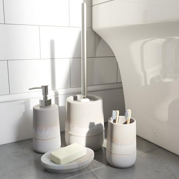 Accents grey ombre soap dispenser