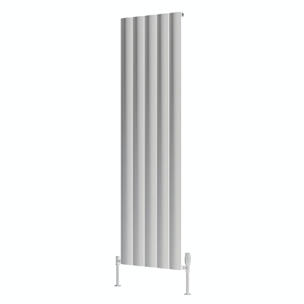 Reina Belva white single vertical aluminium designer radiator