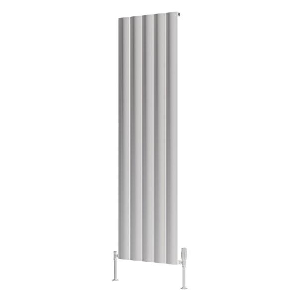 Reina Belva white single vertical aluminium designer radiator