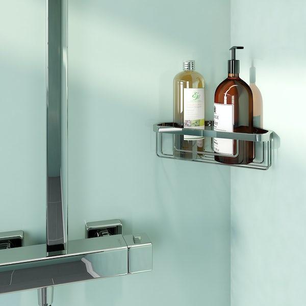 Accents contemporary corner soap basket