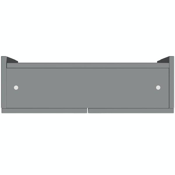 Reeves Wyatt onyx grey wall hung cabinet 720 x 600mm
