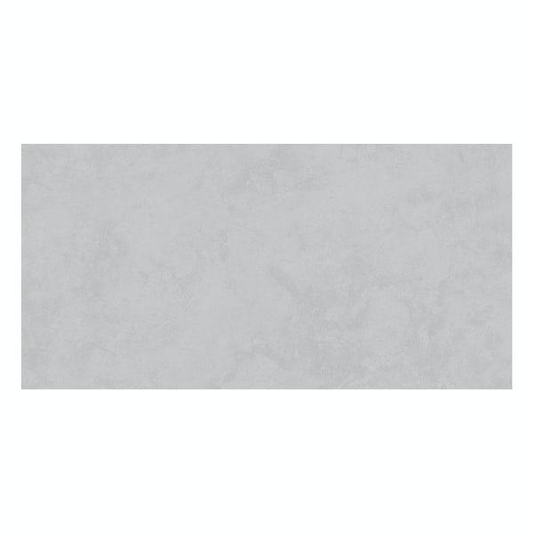 Volta grey stone effect flat matt wall and floor tile 300mm x 600mm