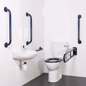 Bristan DOCM pack with TMV3 basin mixer tap blue