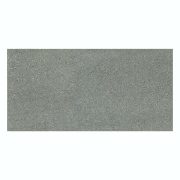 Faro grey stone effect flat matt wall and floor tile 300mm x 600mm
