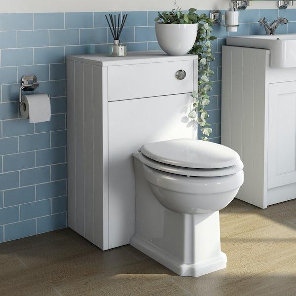 The Bath Co. Dulwich matt white back to wall toilet unit 500mm